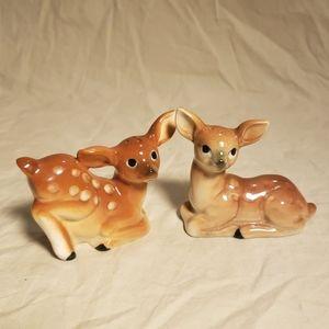 Vintage Deer Salt & Pepper Shakers